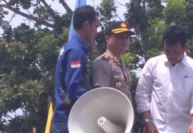 Hari Pertama Tugas,Kapolresta Barelang Turun Langsung Amankan Aksi Demo