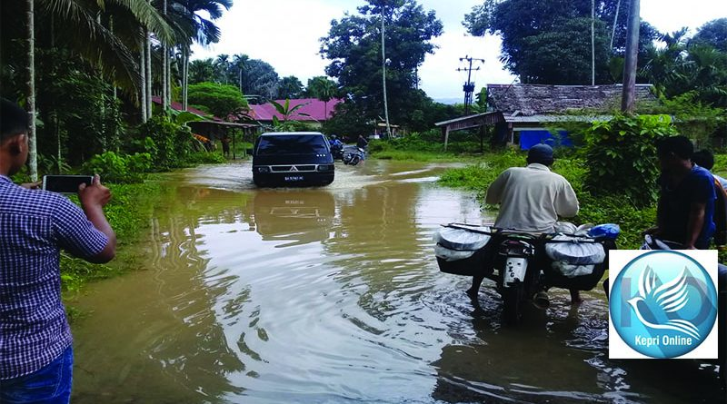 Aliran Sungai Dangkal Dugaan Pemicu Banjir di Kenagarian Lansek Kodok